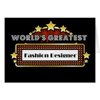 Le plus grand couturier du monde cartes