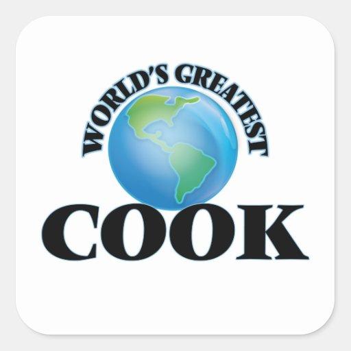 Le plus grand cuisinier du monde sticker carré