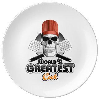 Le plus grand cuisinier v1 du monde assiettes en porcelaine