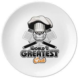 Le plus grand cuisinier v2 du monde assiette en porcelaine