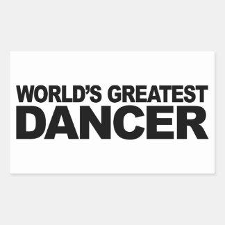 Le plus grand danseur du monde stickers en rectangle