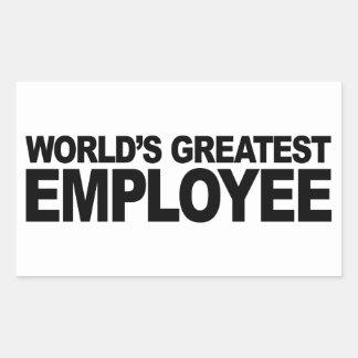 Le plus grand employé du monde autocollant en rectangle