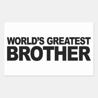 Le plus grand frère du monde stickers rectangulaires