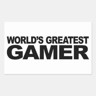 Le plus grand Gamer du monde Stickers En Rectangle