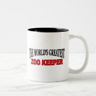 Le plus grand gardien de zoo du monde mug bicolore