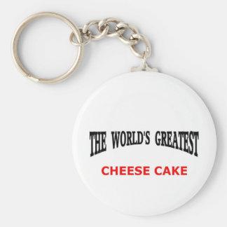 Le plus grand gâteau au fromage du monde porte-clé rond