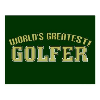 Le plus grand golfeur du monde ! carte postale