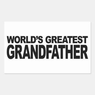 Le plus grand grand-père du monde stickers rectangulaires