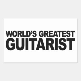 Le plus grand guitariste du monde sticker rectangulaire