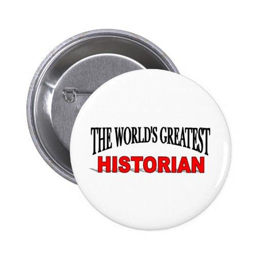 Le plus grand historien du monde pin's avec agrafe