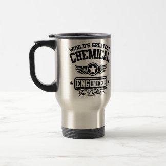 Le plus grand ingénieur chimiste du monde dans mug de voyage en acier inoxydable