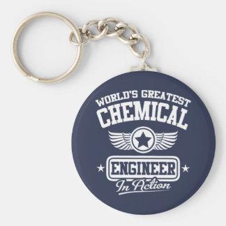 Le plus grand ingénieur chimiste du monde dans porte-clé rond