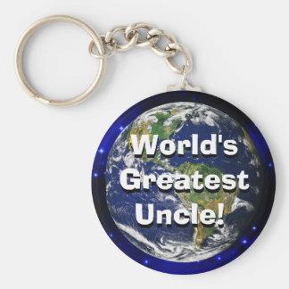Le plus grand oncle du monde ! Porte - clé Porte-clé Rond