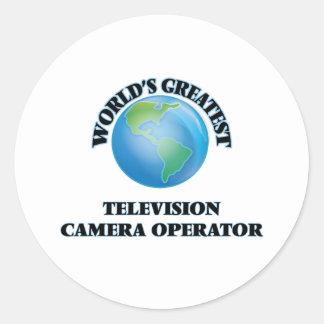 Le plus grand opérateur de caméra de télévision du autocollants ronds