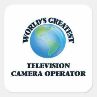 Le plus grand opérateur de caméra de télévision du sticker carré