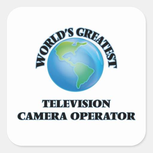 Le plus grand opérateur de caméra de télévision du stickers carrés