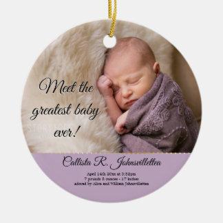 Le plus grand ornement du bébé toujours |