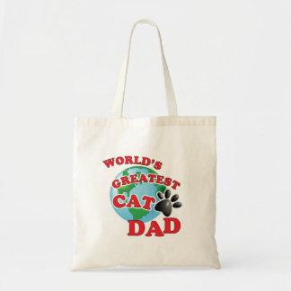 Le plus grand papa de Kitty du monde Tote Bag