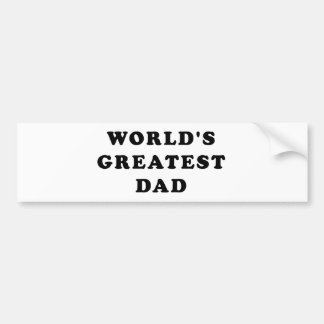 Le plus grand papa du monde autocollant de voiture