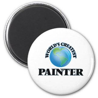 Le plus grand peintre du monde magnet rond 8 cm