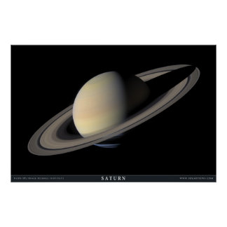Le plus grand portrait de Saturn Posters