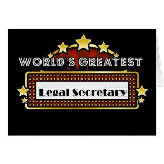 Le plus grand secrétaire juridique du monde carte de vœux