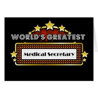 Le plus grand secrétaire médical du monde carte de vœux