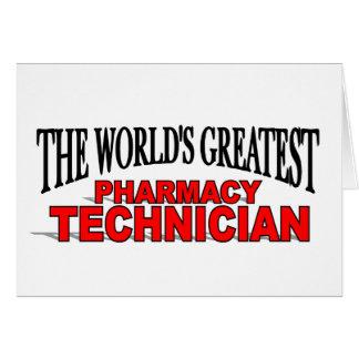 Le plus grand technicien de la pharmacie du monde cartes