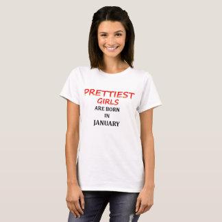 le plus joli T-shirt de filles pour janvier