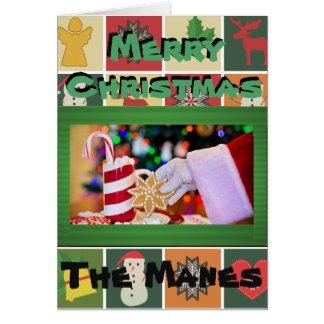Le plus joyeux de la carte de voeux de Christmases