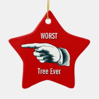 Le plus mauvais arbre jamais ornement étoile en céramique