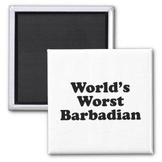 Le plus mauvais Barbadien du monde Aimant