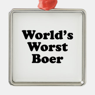 Le plus mauvais Boer du monde Ornement Carré Argenté
