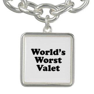 Le plus mauvais valet du monde bracelet avec breloques