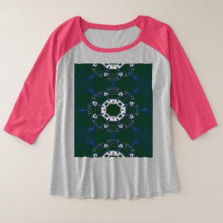 Le Plus-Size des femmes 3/4 T-shirt de raglan de