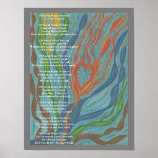 Le poème et le dessin de Waterwarrior Posters