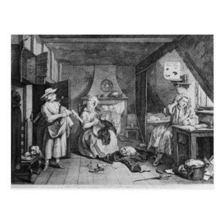 Le poète affligé, 1740 carte postale