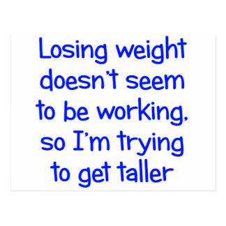 Le poids perdant ne semble pas fonctionner carte postale