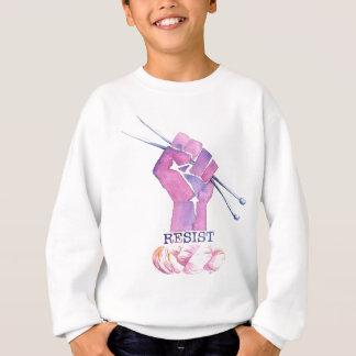 Le poing de puissance de Kntting avec RÉSISTENT Sweatshirt