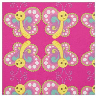 Le point de polka coloré de papillon badine le tissu