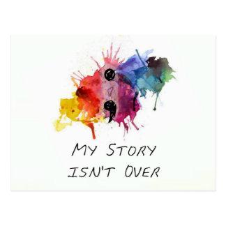 Le point-virgule mon histoire n'est pas terminé carte postale