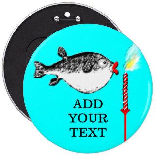 Le poisson d'anniversaire fait le souhait badge