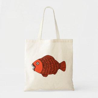 Le poisson effrayant met en sac (le rouge)