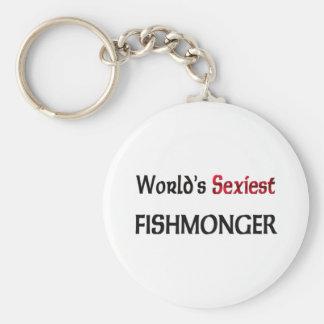 Le poissonnier le plus sexy du monde porte-clé rond