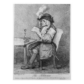 Le politicien, gravé à l'eau-forte par John Keyse Carte Postale
