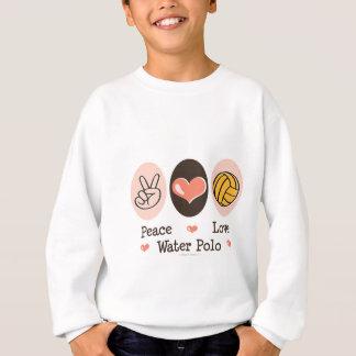 Le polo d'eau d'amour de paix badine le sweatshirt