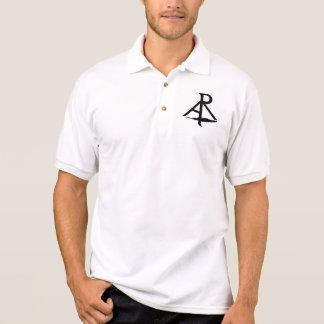 Le polo oblique d'hommes blancs de logo de polo