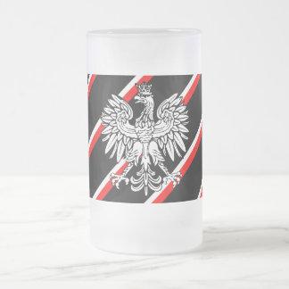 Le polonais barre le drapeau chope givrée