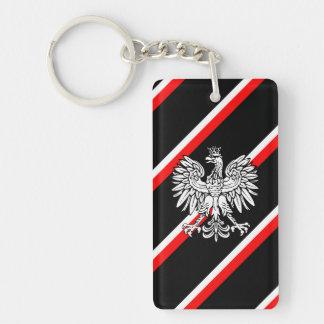 Le polonais barre le drapeau porte-clés