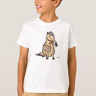 Le poney mignon travaillera pour des carottes t-shirt